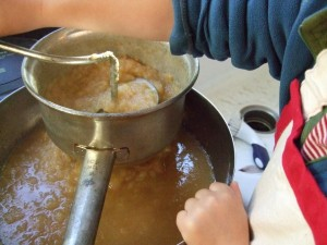 making apple maple butter, Oct. 9, 2010
