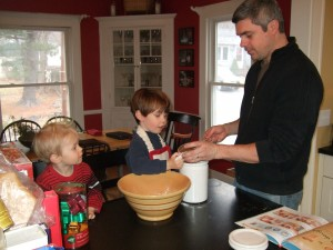Ben and the boys making Christmas cookies, Dec. 5, 2010, 1