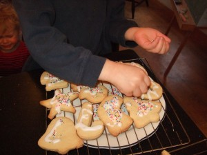 Ben and the boys making Christmas cookies, Dec. 5, 2010, 5