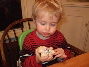Ben and the boys making Christmas cookies, Dec. 5, 2010, 7