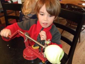 Peeling Apples, Oct. 4, 2011, 1