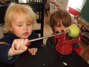 Peeling Apples, Oct. 4, 2010, 2