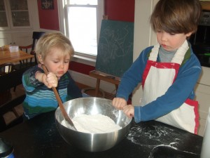 Making Cinnamon-Raisin Scones, Feb. 9, 2011