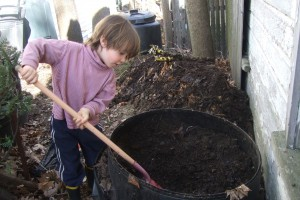 Winter compost experiment, May 1, 2011