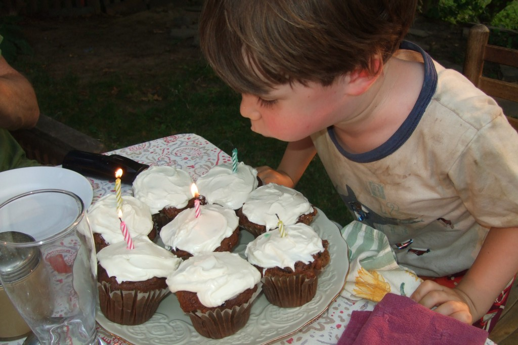 Connor's Birthday Cupcakes, July 17, 2011
