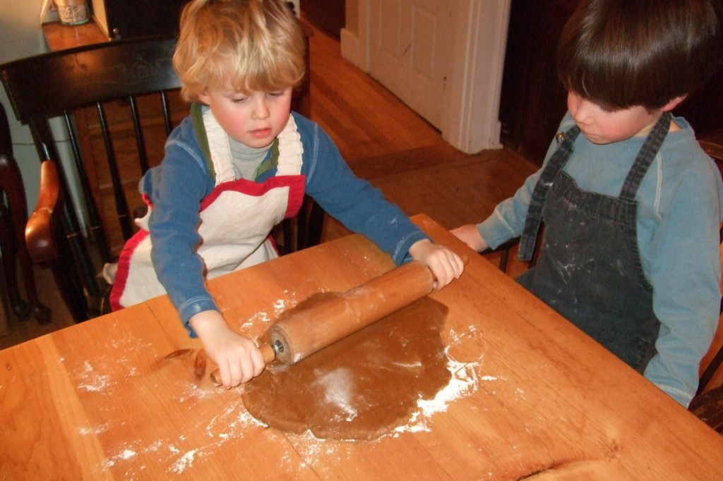 Ian rolling gingerbread